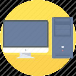 computer, cpu, desktop, hardware, monitor, pc, screen icon