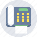 communication, fax, letter, machine icon