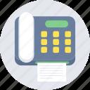 fax, machine, communication, letter