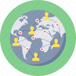 chat, communication, connection, global, network, people, users icon