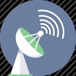 antenna, dish, internet, satellite, signal, technology, wireless icon