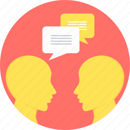 chat, chatting, conversation, discussion, message, talk icon