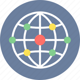 connection, global, internet, network, world icon