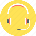 audio, headphone, headphones, headset, microphone icon