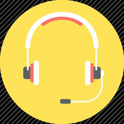 audio, headphone, headphones, headset, microphone icon