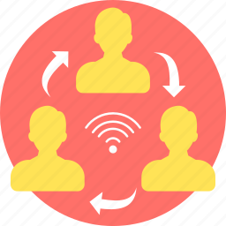 chat, communication, conference call, coversation, internet, online, share icon