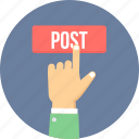 blog, online, post, posting, send, sign icon