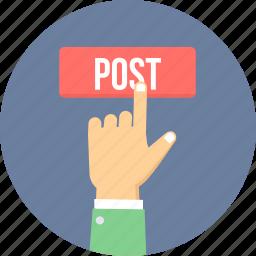 blog, online, post, posting, send, sign icon