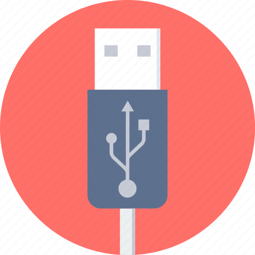 cable, data, usb icon