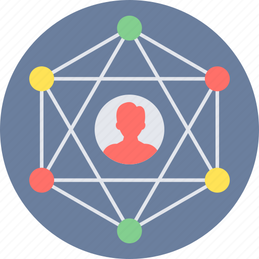 community, connection, link, media, network, social, web icon
