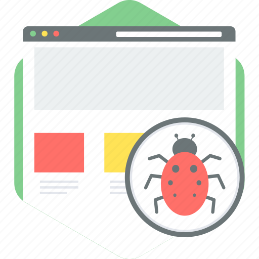 bug, virus icon