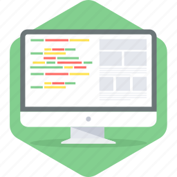 html, language, layout, programming icon