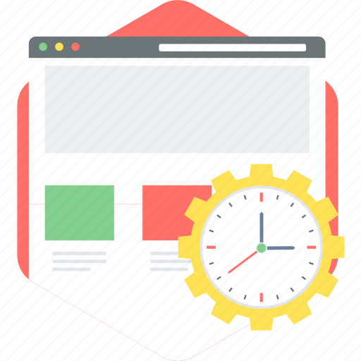 load, loading, page, running, time icon
