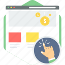 click, pay, per, ppc icon