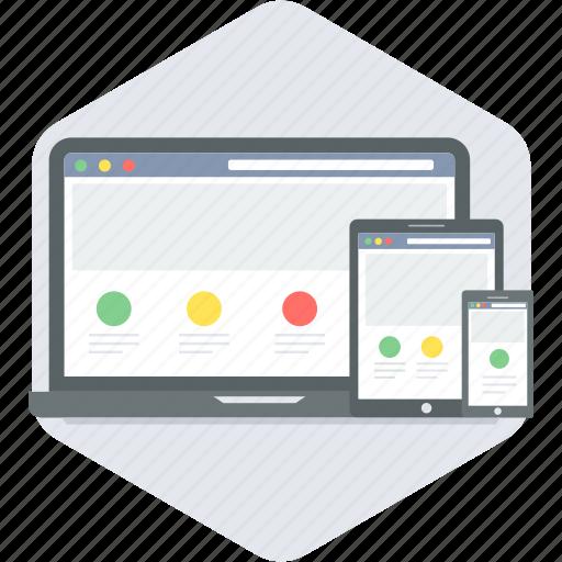 network, responsive, site, web icon
