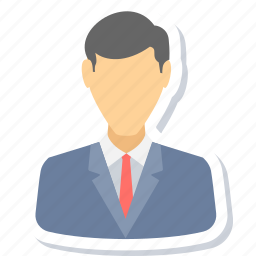 avatar, businessman, employee, manager, person, profile, user icon