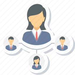 business, communication, connection, network, social, team icon