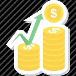 financial, market icon
