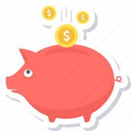 bank, finance, funding, investment, money, piggy icon