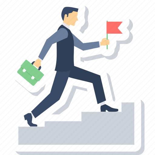 growth, ladder, stairs, success icon