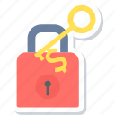 key, secure, security, success, success key icon