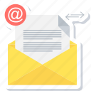 document, envelope, inbox, letter, mail, message, paper icon