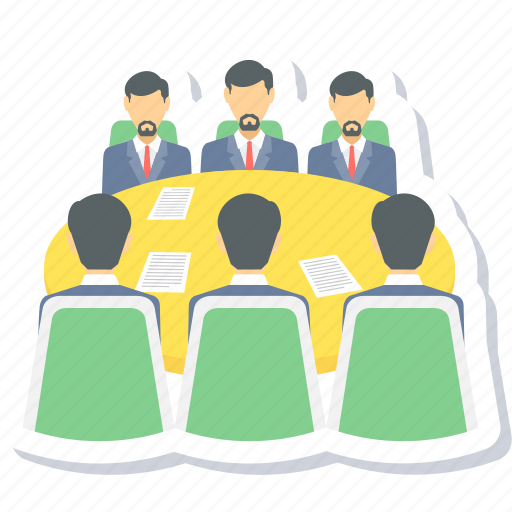 business meeting, conference, group, meeting, team icon