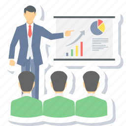 analysis, business meeting, meeting, presentation icon