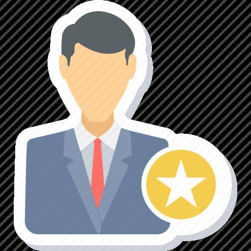 employee, favorite, favourite, male, man, star icon