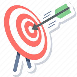 aim, dartboard, focus, goal, target, targeting icon