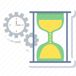 clock, commerce, hourglass, schedule, stopwatch, time, timer icon