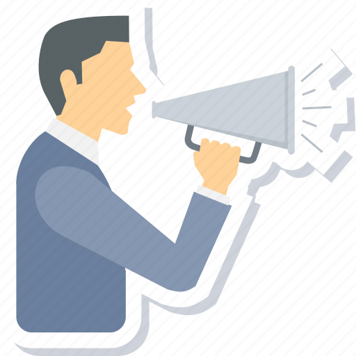 Advertising, announcement, bullhorn, loudspeaker, marketing, promotion, speaker icon - Download on Iconfinder