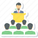 board, business, conference, meeting, presentation icon