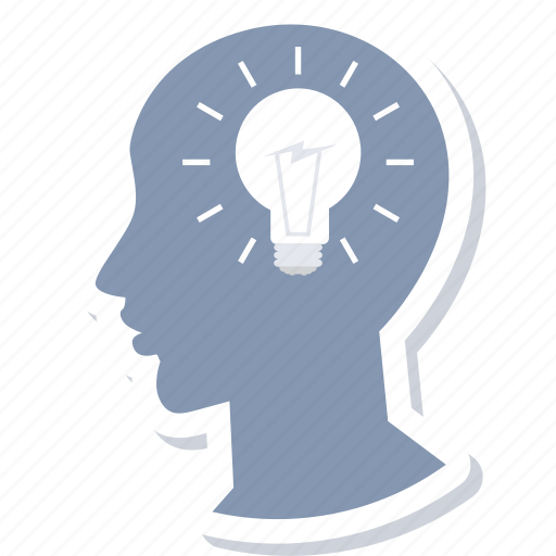 bulb, creative, idea, light, thought process icon