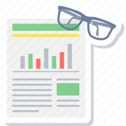 analysis, chart, graph, report, review, spects, statistics icon
