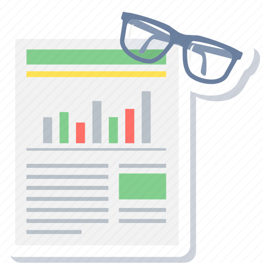 Report, review, analysis, chart, graph, spects, statistics icon - Download on Iconfinder