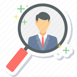 client, find, magnifier, search, view icon