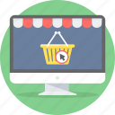 basket, buy, cart, commerce, e, online, shopping icon