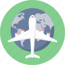 delivery, first flight, international, shipping icon