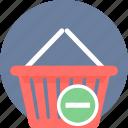 cart, from, remove, basket, online, trash
