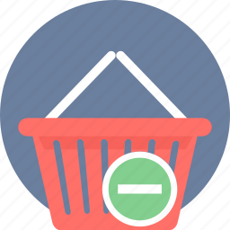 basket, cart, from, online, remove, trash icon