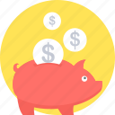 bank, cash back, guardar, money, piggy, save, savings icon