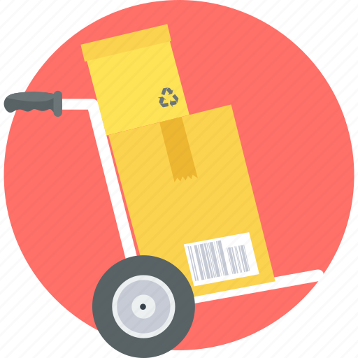 delivery, ecommerce, online, shopping, trolley icon