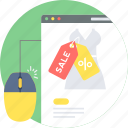 discount, online, sale, shop, web icon