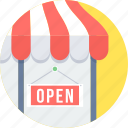 open, sale, shop, store icon