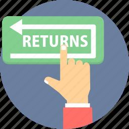 return, returns, shopping returns icon