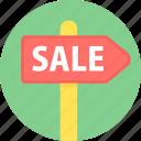 sale, hording, board, offer