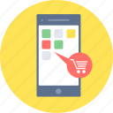 app, cart, ecommerce, mobile, online, shopping icon