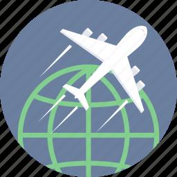 delivery, first flight, international, transportation icon