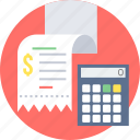 bill, billing, calculation, invoice, receipt icon